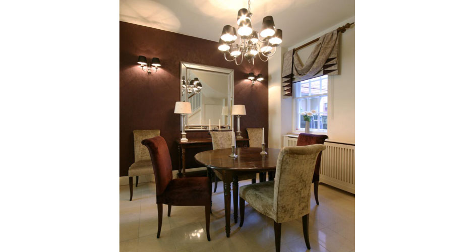 Dining room by Country Knole interior designers in Somerset