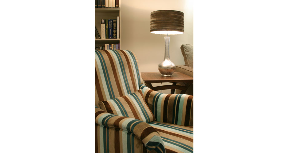 Stripey sofa seat